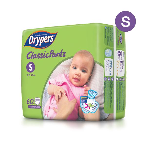 Drypers+Classicpantz+60pcs+%23S
