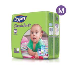 Drypers Classicpantz 58pcs #M