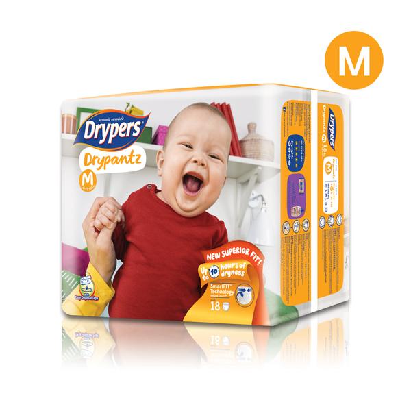 Drypers+Drypantz+18pcs+%23M