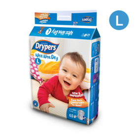 Drypers WWD 62pcs #L