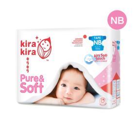 Kira Kira Pure & Soft Baby Tape Diaper 72pcs #Newborn
