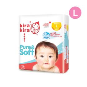 Kira Kira Pure & Soft Baby Pant Diaper 44pcs #L