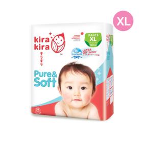 Kira Kira Pure & Soft Baby Pant Diaper 40pcs #XL
