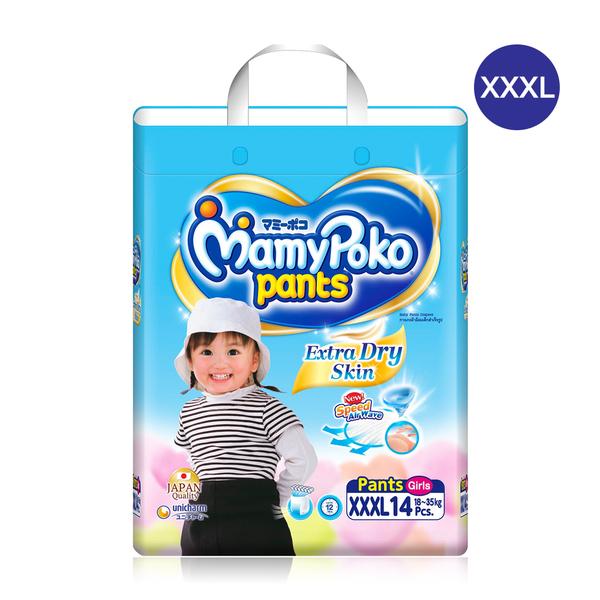 Mamy Poko Pants Extra Dry Skin 14pcs #XXXL (Girl)