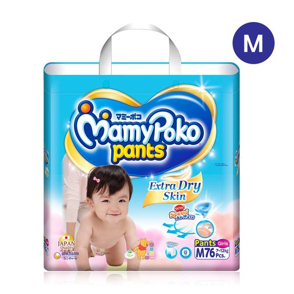 Mamy+Poko+Pants+Extra+Dry+Skin+76pcs+%23M+%28Girl%29