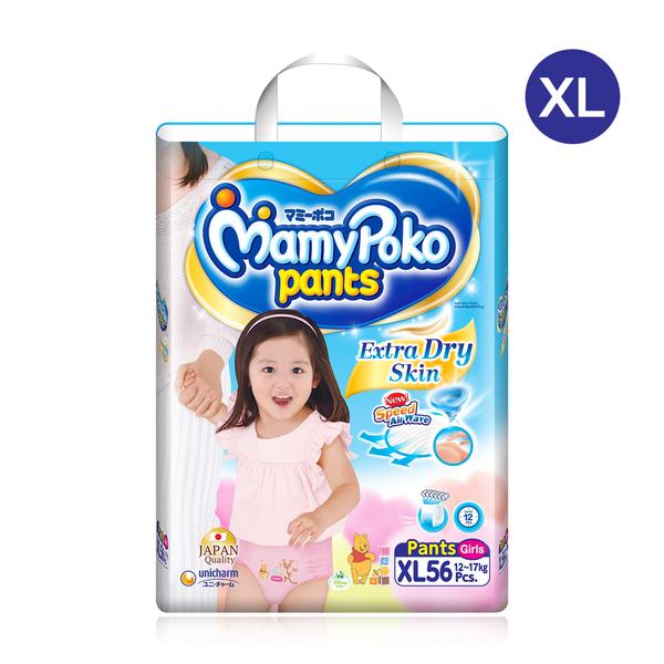 Mamy+Poko+Pants+Extra+Dry+Skin+56pcs+%23XL+%28Girl%29