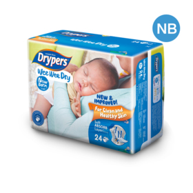 Drypers WWD 24pcs #NB
