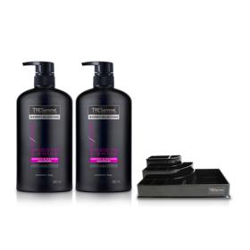 Tresemme Shampoo Smooth & Shine Pink (480ml x 2pcs) (Free! Cosmetic Tray)