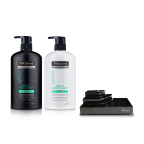 Tresemme Shampoo Split Recovery Green 480ml & Hair Conditioner (2pcs) (Free! Cosmetic Tray)