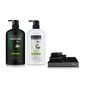 Tresemme Salon Detox Shampoo 450ml & Hair Conditioner (2pcs) (Free! Cosmetic Tray)