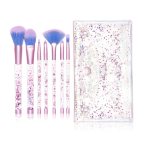 Lime Crime Aquarium Liquid Glitter Makeup Brush Set 7pcs & Pouch
