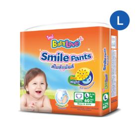 Babylove Smile Pants 60pcs #L
