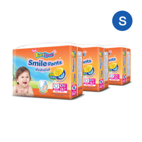Babylove Smile Pants 76pcs x 3packs (228pcs in box) #S
