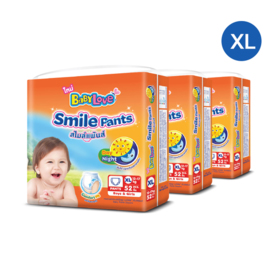 Babylove Smile Pants 52pcs x 3packs (156pcs in box) #XL