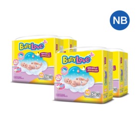 BabyLove Easy Tape Jumbo Size 56pcs x 4packs (224pcs in box) #Newborn