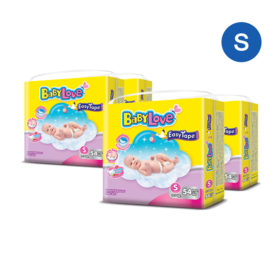 BabyLove Easy Tape Jumbo Size 54pcs x 4packs (216pcs in box) #S