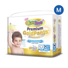 BabyLove Premium Gold Pants Perfection Protection 64pcs #M