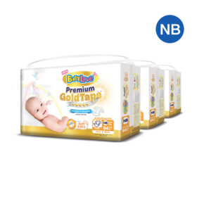 BabyLove Premium Gold Tape Perfection Protection 84pcs x 3packs (252pcs in box) #Newborn