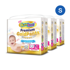 BabyLove Premium Gold Pants Perfection Protection 70pcs x 3packs (210pcs in box) #S