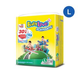 BabyLove Playpants Nanopower Plus Jumbo Size 54pcs #L