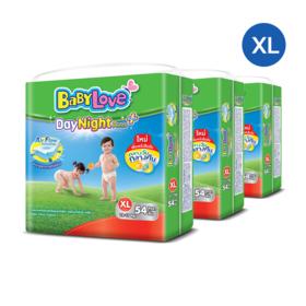 Babylove DayNight Pants Mega Pack 54pcs X 3 packs (162 in box) #XL