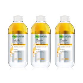 Garnier Micellar Oil-Infused Cleansing Water 400ml Valued Pack 3pcs