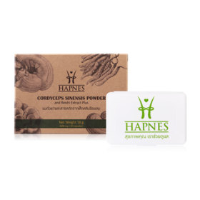 HAPNES Cordyceps Sinensis Powder & Reishi Extract Plus (600mg x 30capsules)(Free! Pillbox)