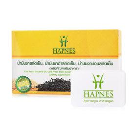 HAPNES Cold Press Sesame Oil, Cold Press Black Sesame, Cold Press Perilla Seed Oil (700mg x 30capsules)(Free! Pillbox)