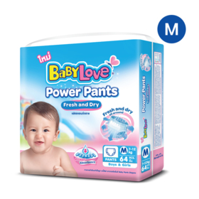 Babylove Power Pants 64pcs #M