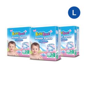 Babylove Power Pants 52pcs x 3 pack (156pcs in box) #L