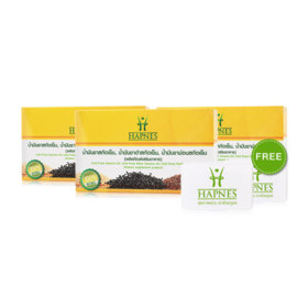 HAPNES Cold Press Sesame Oil, Cold Press Black Sesame, Cold Press Perilla Seed Oil (700mg x 30capsules x 3box)Free! Pillbox 2pcs