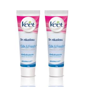แพ็คคู่ Veet Hair Removal Cream Aloe Vera & Vitamin E (50gx2)