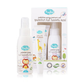 Kindee Protective Spray Premium Set 2 Items (Protective Lotion 80ml #Lavender + Soothing Balm 15g)