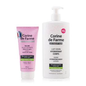 Corine de farme Divine Hydrating Body Lotion 400ml (Free Hand & Nail Cream 100ml)