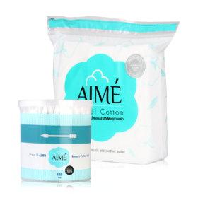 Aime Set Facial Cotton 80g (Free! Beauty Cotton Bud 150pcs)