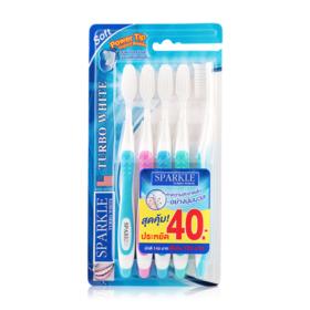 Sparkle Turbo White Toothbrush Pack5 1pcs