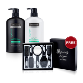 Tresemme Split Recovery Shampoo 480ml & Conditioner 480ml (2pcs) (Free! Comb Set)