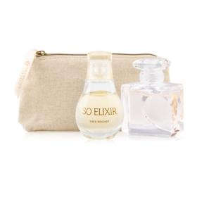 Yves Rocher Duo Mini Travel Perfume Set 3Items(D Amour EDT 5ml + So Elixirl EDP 5ml + 2018 Golden Pourch)
