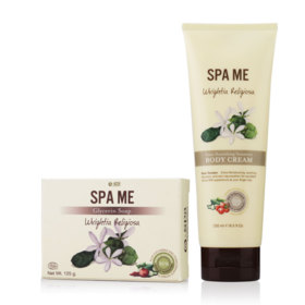 O-Spa Set 2 Items (Soap 125g #Wrightia Religiosa + Cream 250ml #Wrightia Religiosa)