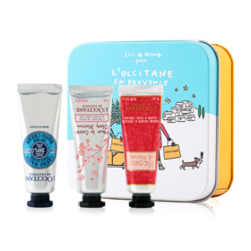 L'Occitane Hand Cream Set 3 Items Snow Pattern Box