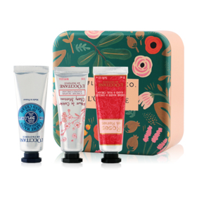 L'Occitane Hand Cream Set 3 Items Flowers Pattern Box