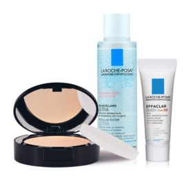 La Roche Posay Toleriane Compact Powder Exclusive Set Buy 1 Get 2 Free (Toleriane Teint #13 Sand Beige + Micellar For Reactive S