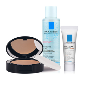 La Roche Posay Toleriane Compact Powder Exclusive Set Buy 1 Get 2 Free (Toleriane Teint #11 Light Beige + Micellar For Reactive