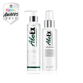 AloEx Hair Regrowth Set (Shampoo 200ml + Serum 120ml) 2pcs
