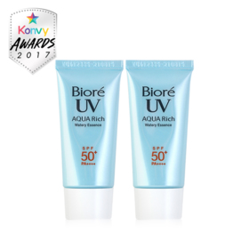 แพ็คคู่ Biore UV Aqua Rich Watery Essence SPF50+/PA++++ (15ml×2)