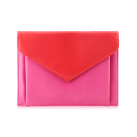 Lancome Envelope Purse Red & Pink Bag