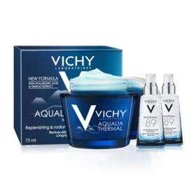 Vichy Hydration Set Buy 1 Get 2 Free (Aqualia Night Spa 75ml + Mineral 89 1.5ml x 2pcs)