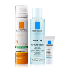 La Roche Posay Sun Protection Fresh Mist Buy 1 Get 2 Free (Anthelios Face Mist 75ml + Micellar For Oily Skin 50ml + Effaclar Duo