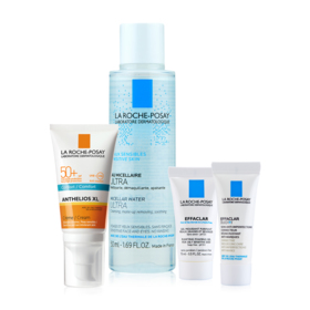 La Roche Posay Sun Protection Set For Dry Skin Buy 1 Get 3 Free (Anthelios XL Cream SPF50+ 50ml + Micellar For Sensitive Skin 50