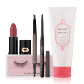 Preciosa Gift Set 4 Items + (Lipstick Extica lipstick #03 Taffy nut)